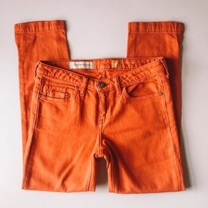 Anthropologie Pilcro Orange Skinny Ankle Jean